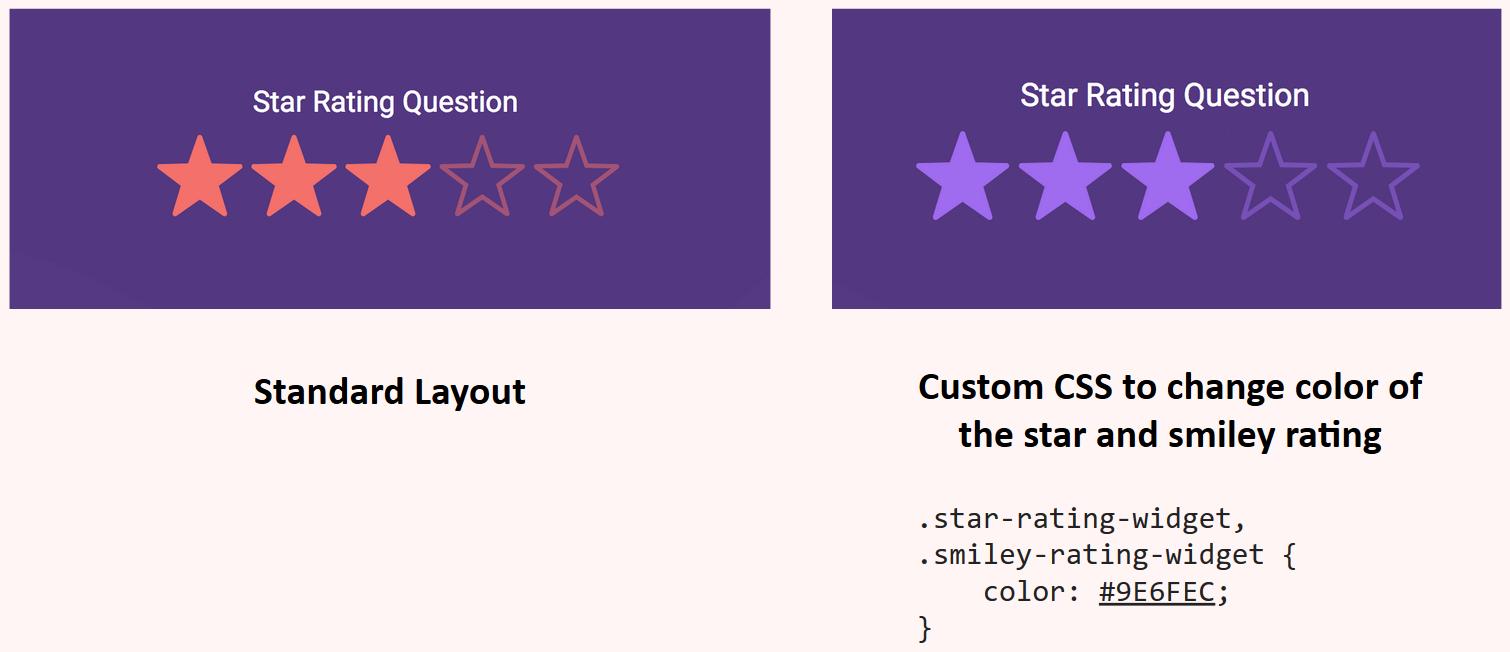 Custom CSS - change color rating icons