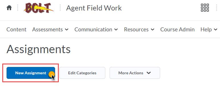 click New Assignment