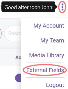 External fields button