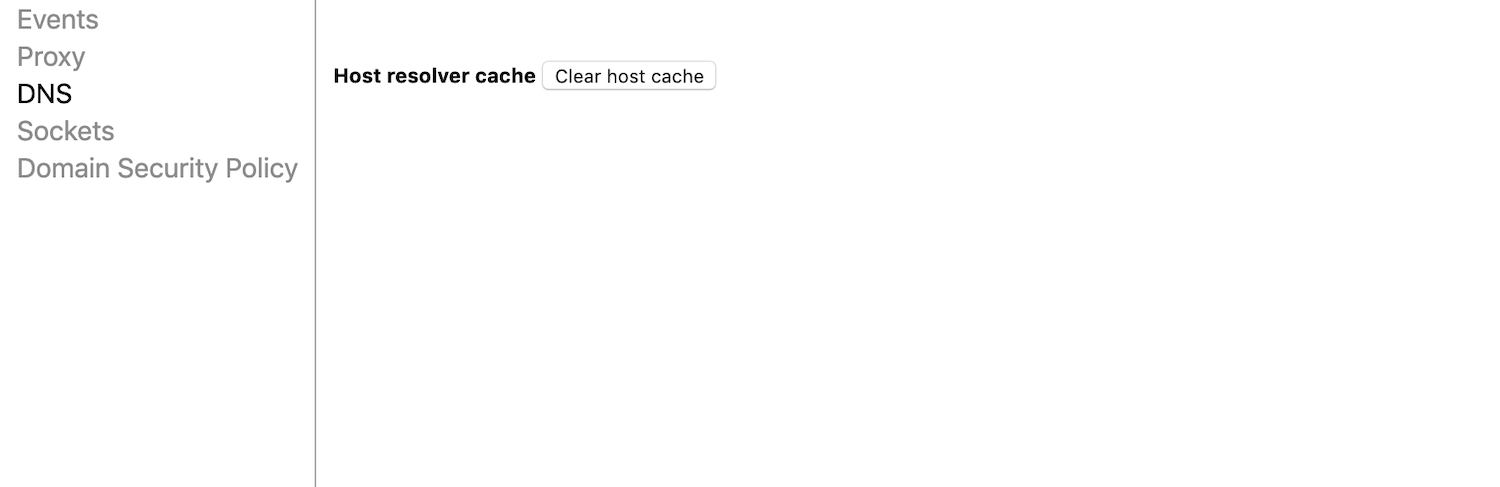 clear host cache chrome