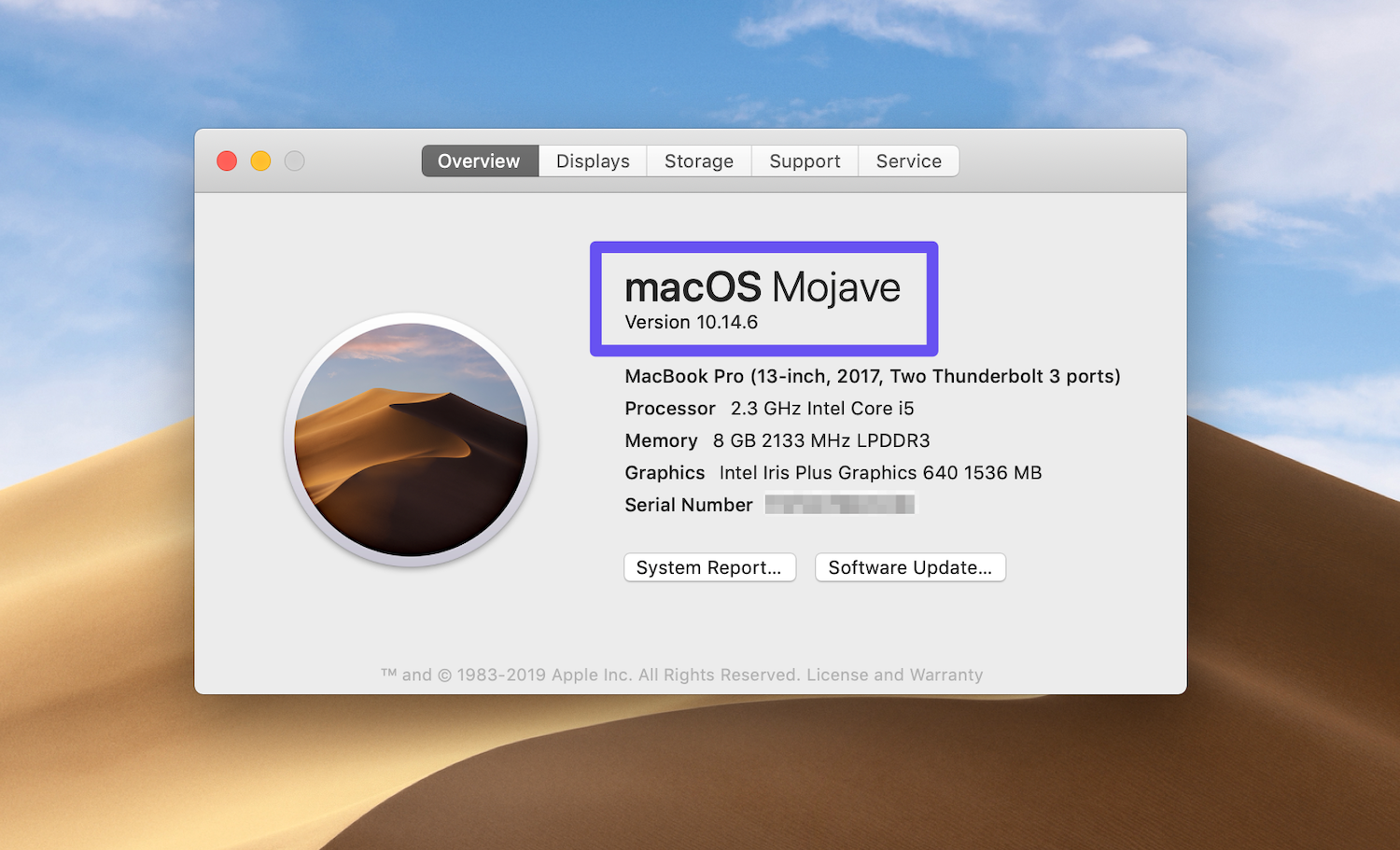 view macos version