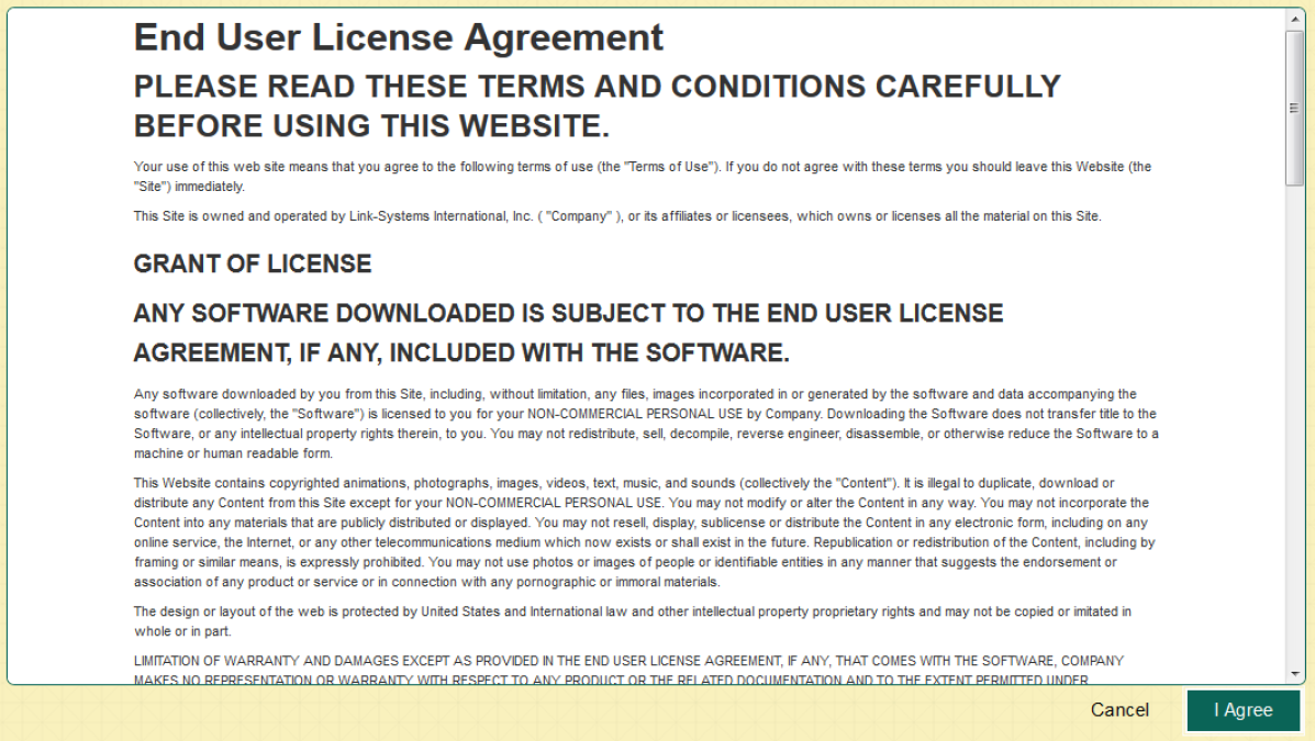 NetTutor end user license agreement page