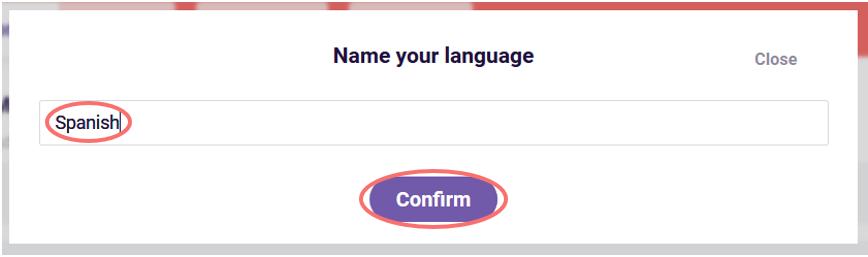 Multiple languages name language