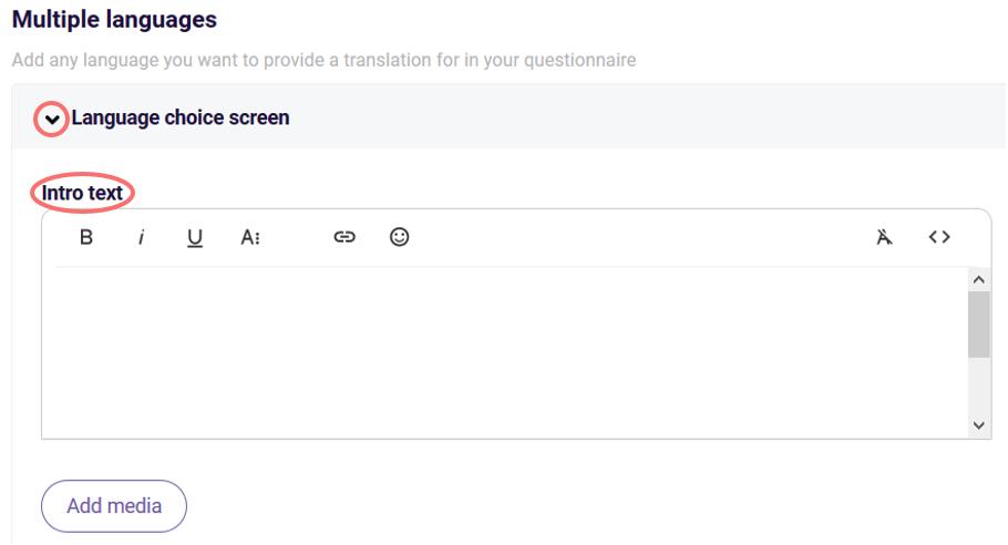 multiple languages - edit language choice screen