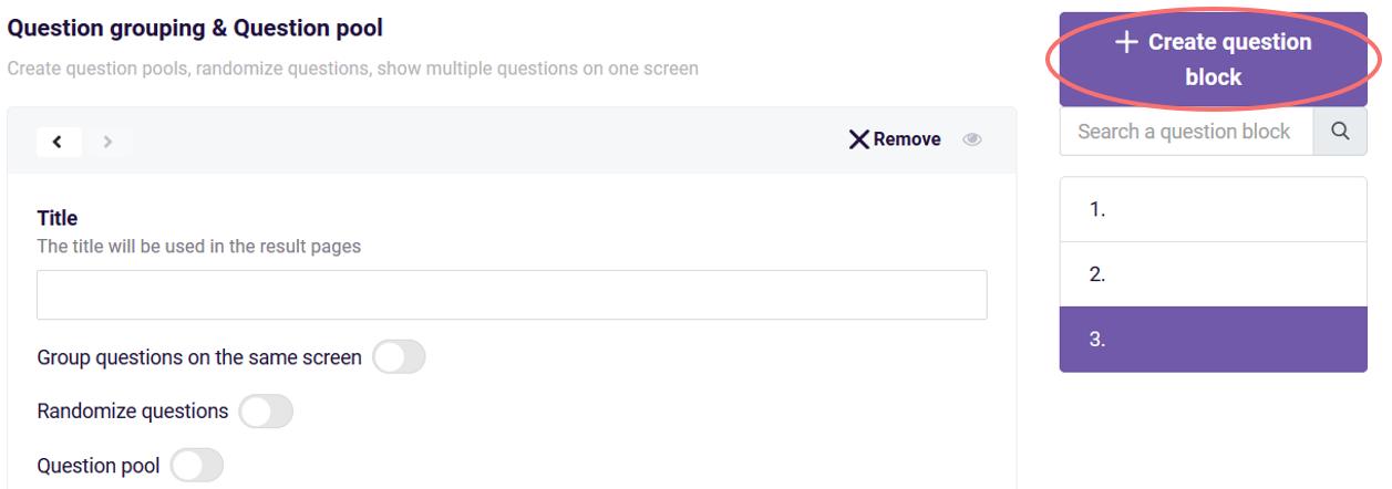randomize - create question block