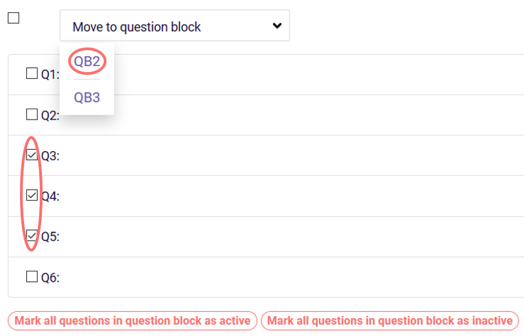 move questions to qb2 - randomization