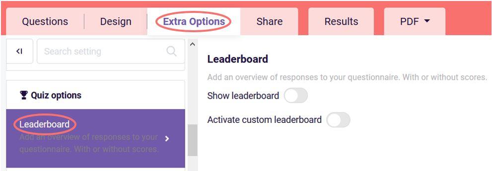 Choose leaderboard
