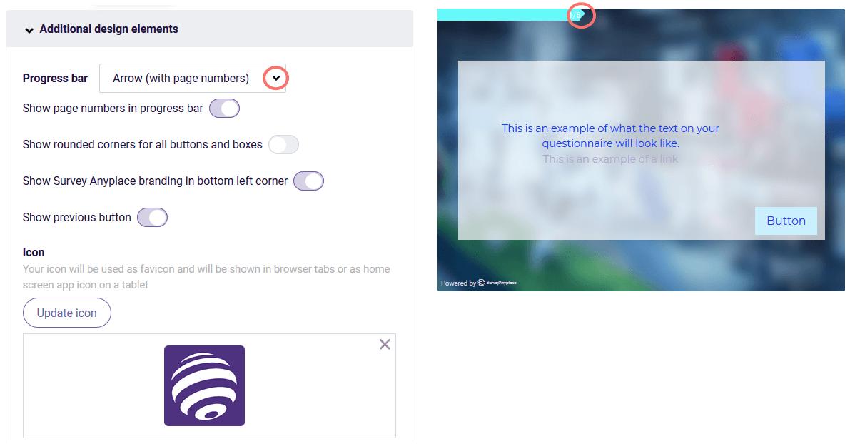 Additional design elements - progress bar