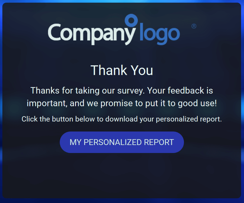 Personalized report button example