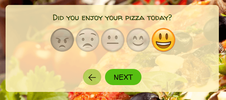 emoji rating question example