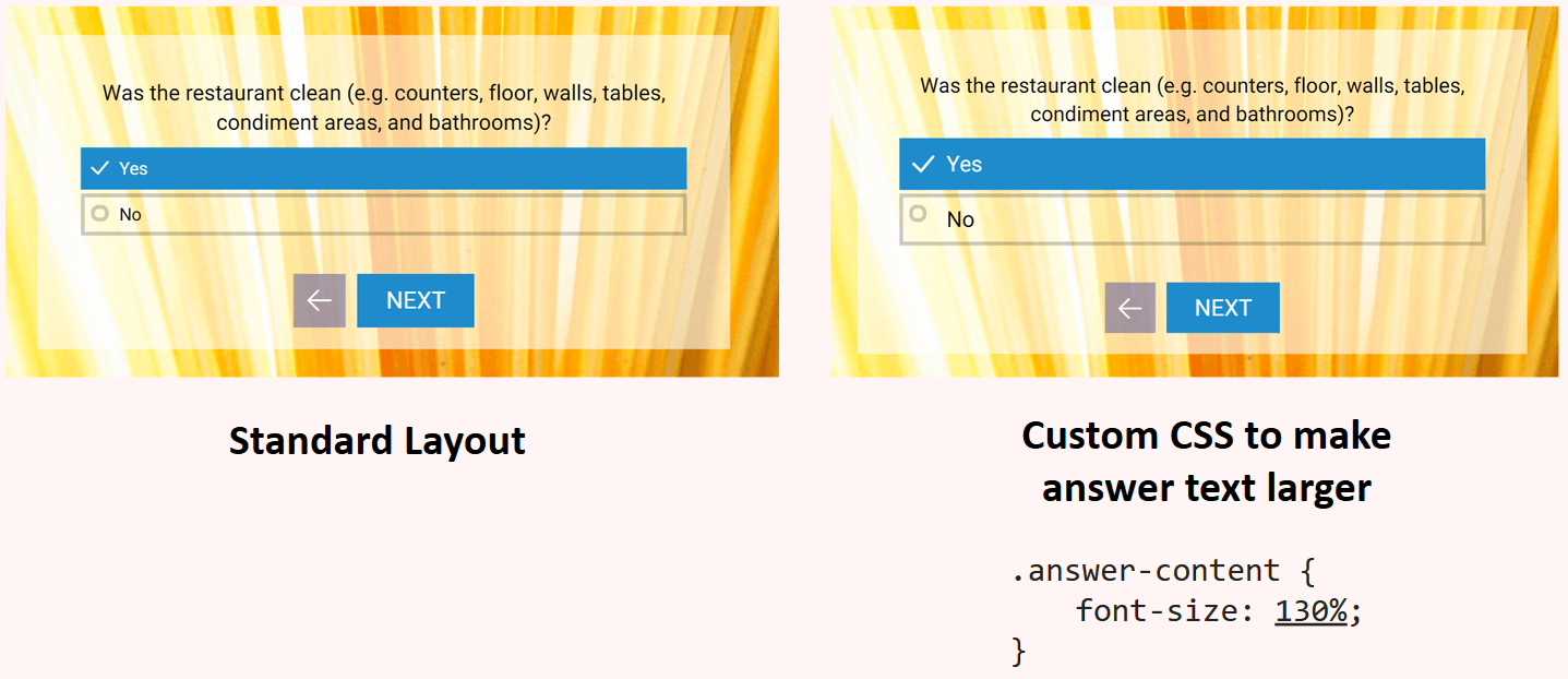 Custom CSS to make text larger