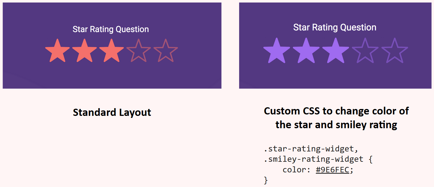 Custom CSS to change the color of rating