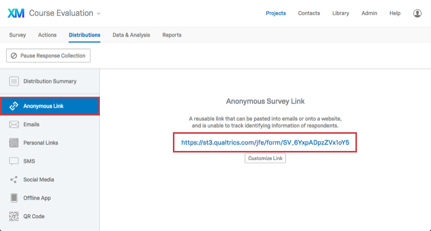 Anonymous Link - Qualtrics Support