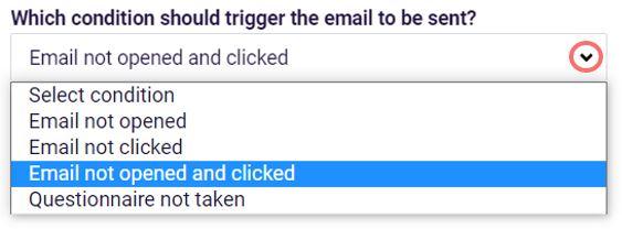 Email reminder trigger