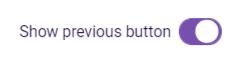Hide Previous Button