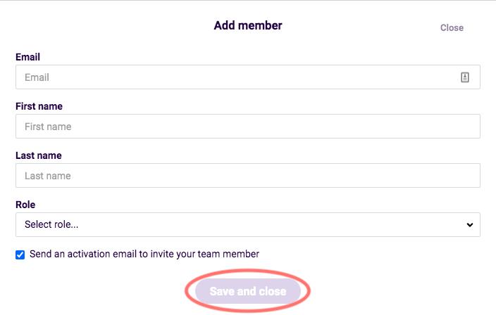 Add team member box