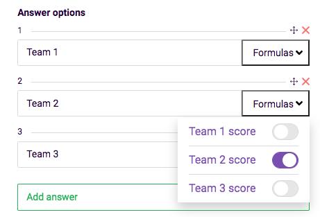 answer options formula example