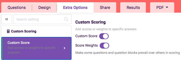 Custom scoring