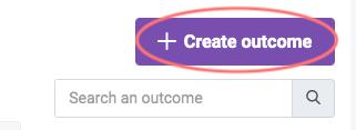 Create outcome button
