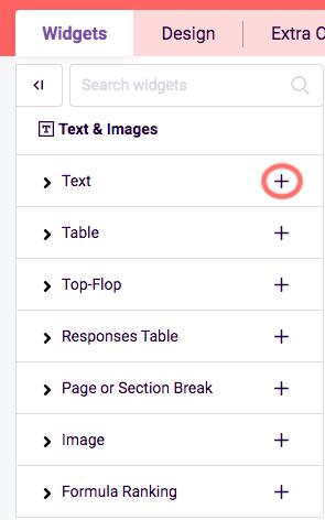 Create first PDF - add widget
