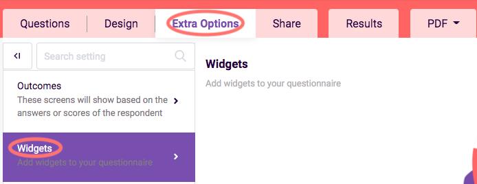 Add widgets