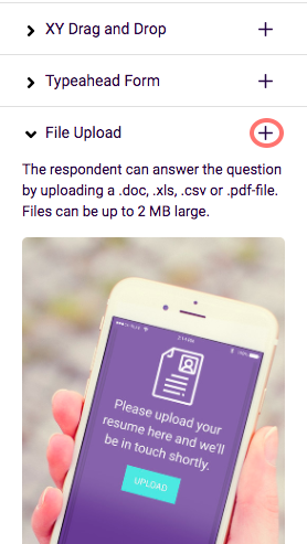 choose file upload and add
