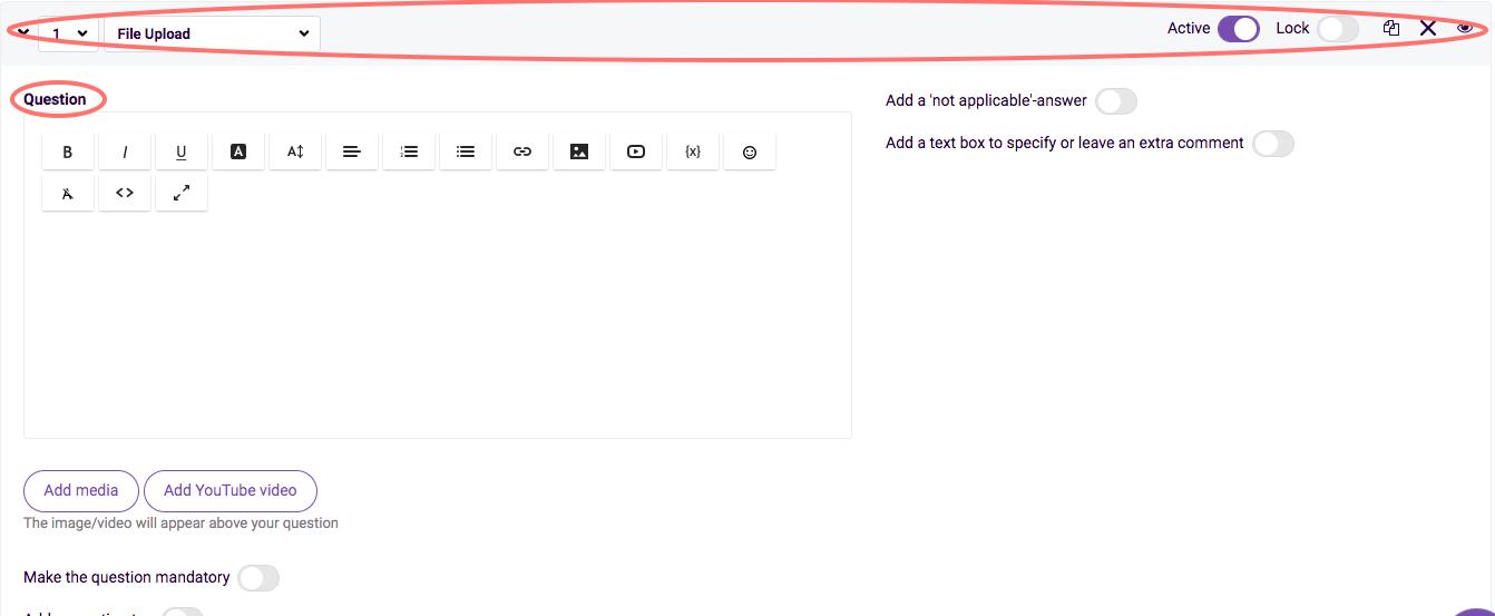 file upload change settings