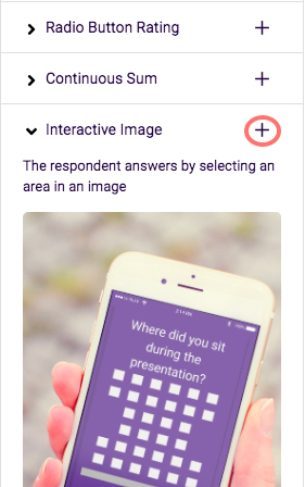 Select Interactive image and add question