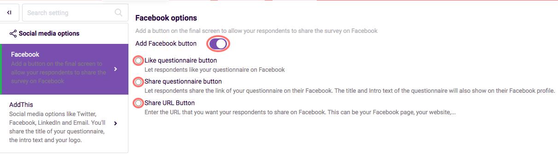 Add facebook button - social media