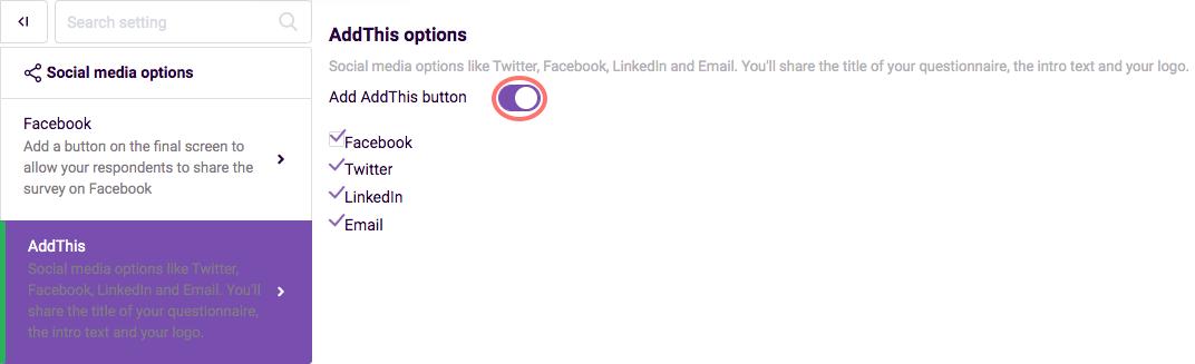 Social Media - AddThis options