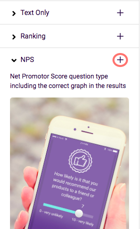 Add the NPS question type