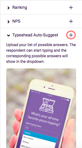 choose typeahead and add