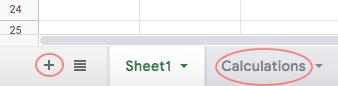Create new sheet