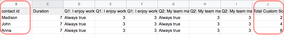 Google sheets field -  excel two columns