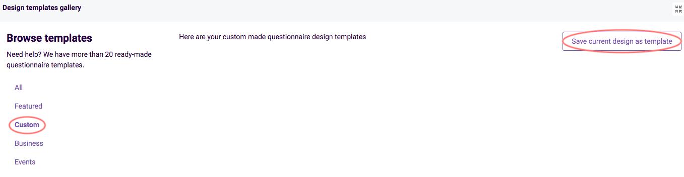 save design as template custom