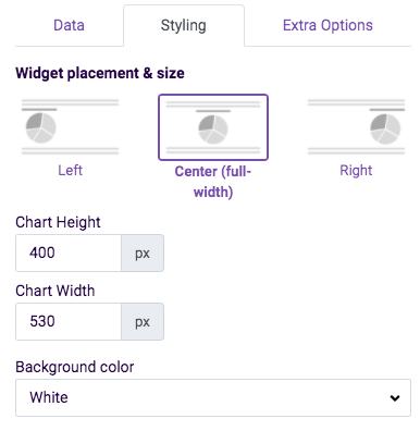widget styling - xy chart