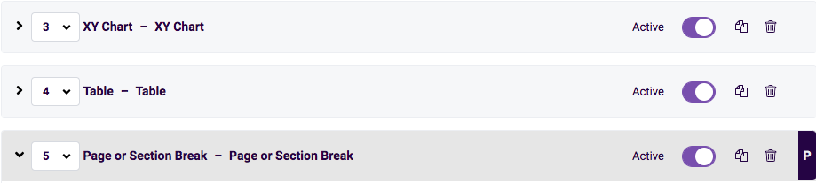 page or section break example