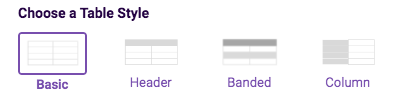 PDF Table widget style