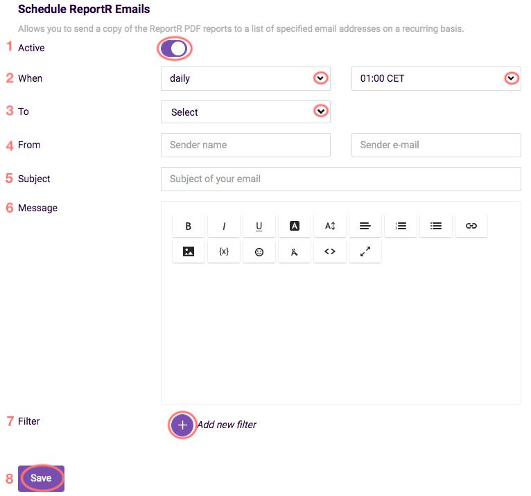 PDF Scheduler options