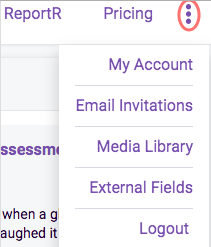 Three dots settings