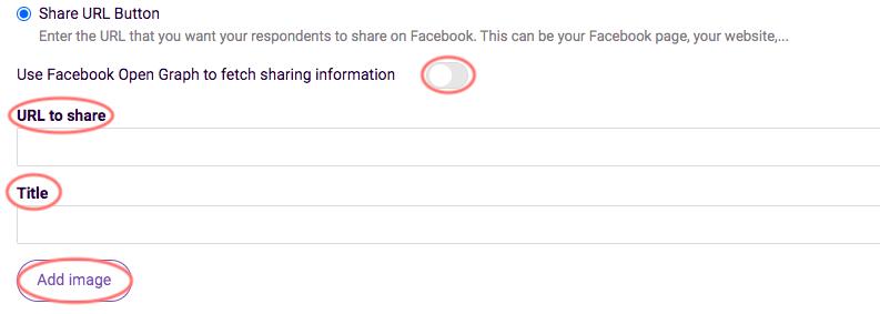 Share URL Button Settings