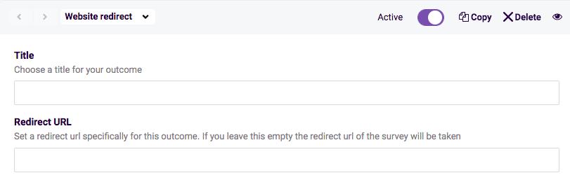 Website redirect setup