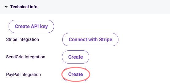 Create PayPal integration