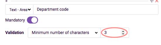 Custom validation example 2 - form field