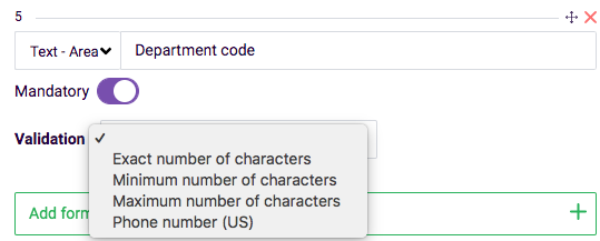 Custom validation example - form field