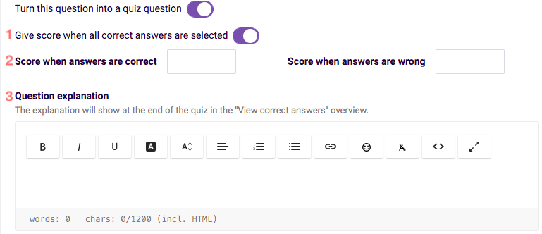 Make ranking a quiz question