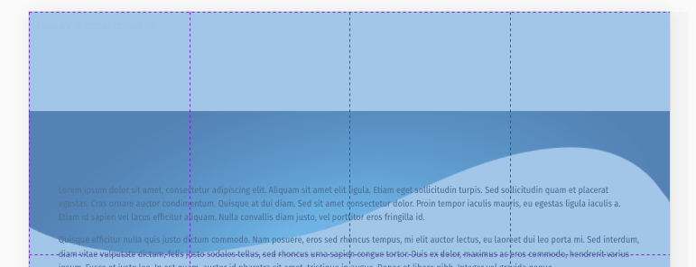 Image position at the bottom of the grid
