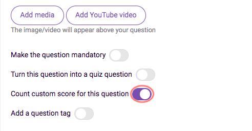 Disable custom scores