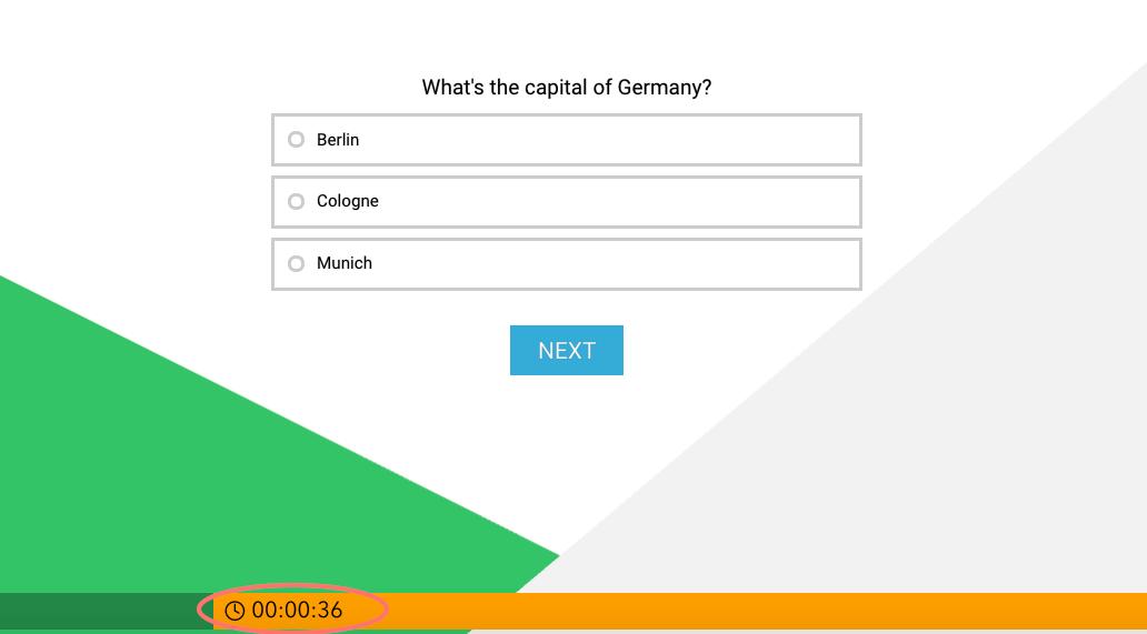 quiz timer - example
