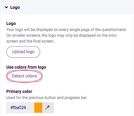 Edit design - use logo colors